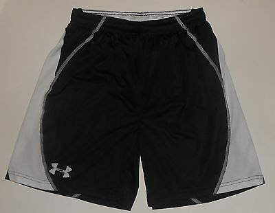 Under Armour Black & White Mesh Trim Athletic Shorts Size Youth Large