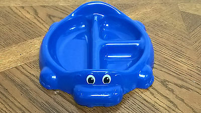 Rubbermaid Hipo Childs Divided Plate 3 Section Blue Plastic