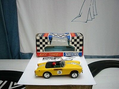 Scalextric Sunbeam Tiger  C83 Yellow  1960's 1:32 Used Boxed Mint