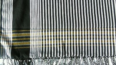Kikoy/Sarong  - Cotton - Black and white
