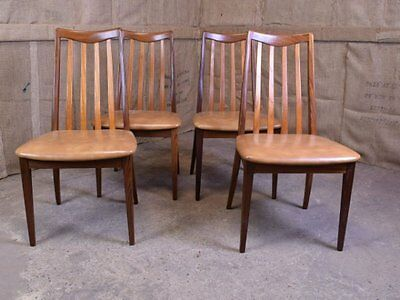 Set of 4 stunning e gomme g plan butterfly dining chairs for G plan teak dining room furniture