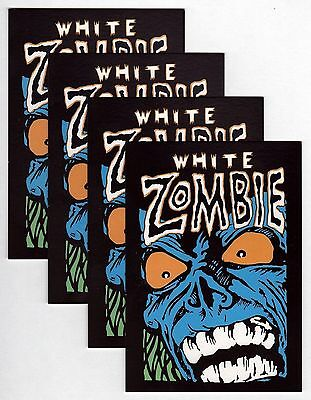 Lot of 4x White Zombie - Blue Zombie - Postcards