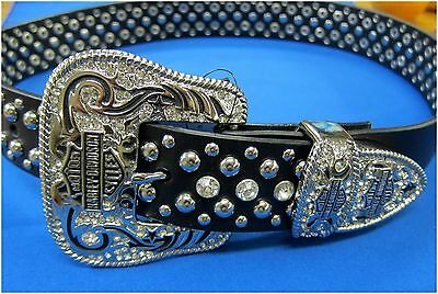 "Harley-Davidson New Ladies Wetern ""Bling"" Belt  Size Small  30-34"