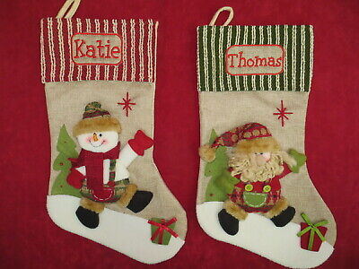 Personalised Hessian Christmas Sack / Stocking