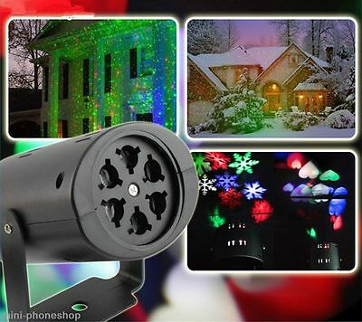 Rotating Rgb Led Projection Lights Mood Lamp for Christmas,Party,Hallowmas