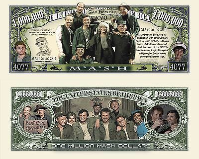 M.A.S.H. Million MASH Dollar Bill Collectible Fake Funny Money Novelty Note
