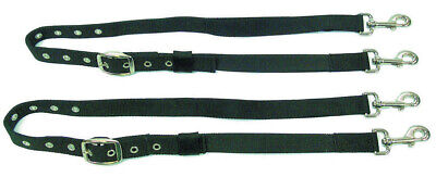 NEW Nylon Side Reins with Elastic+clips+adjustable for Training+Lunging horses