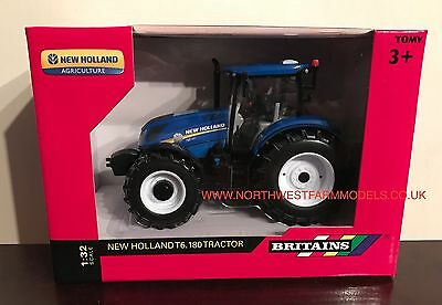 43147A1 Britains Farm NEW HOLLAND T6.180 1/32 SCALE MODEL TRACTOR **NEW** (MIB)