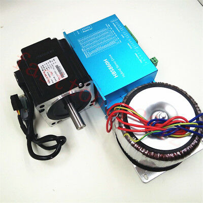 4.5NM Closed Loop Stepper Drive Motor Nema34 Power Supply AC60V for CNC Mills