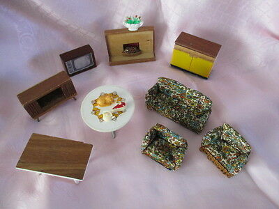 Vintage Lundby Barton Scale 16th Assorted  Dolls House Furniture