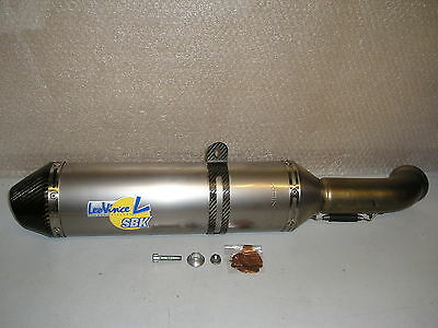 LeoVince SBK ultralight Titanium and Carbon slip on performance exhaust can
