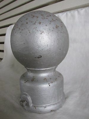 Antique Iron Cannon Ball Newel Post Finial or Gate Post Finial