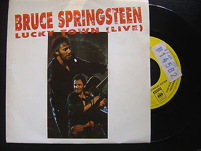 BRUCE SPRINGSTEEN*lucky town*SPANISH 45 CBS PROMOTIONAL 1993*only one side*p/s