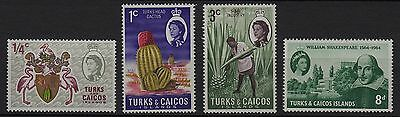 U99) x4 TIMBRES stamps (Neuf**MNH TBE) TURKS & CAICOS ISLANDS