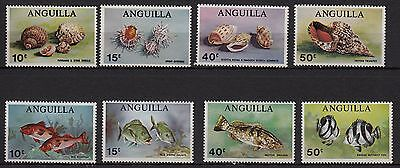 U85) x8 TIMBRES stamps (Neuf**MNH TBE) ANGUILLA (Shells & Fisches...)