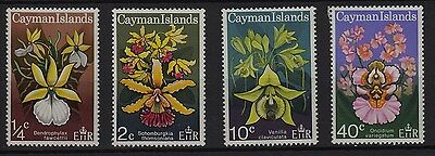 U94) x4 TIMBRES stamps (Neuf**MNH TBE) FLEURS FLOWERS CAYMAN ISLANDS