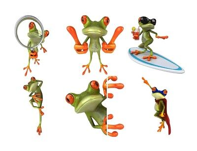 "RED EYED TREE FROG Graphics Decals 6"" to 10.5"" For car/truck, bike, locker, more"