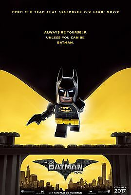 """LEGO BATMAN MOVIE official theatrical poster one sheet DS 27""""x40"""" NEW 2017"""
