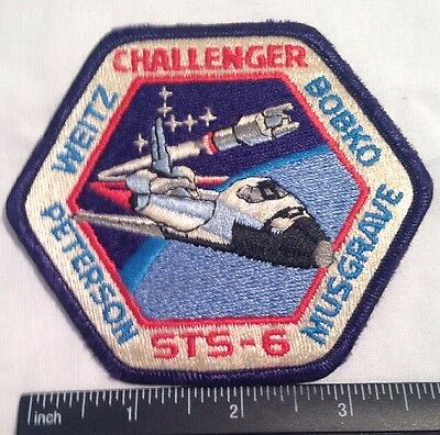 RARE! NASA CHALLENGER STS-6 Space Aviation PATCH Weitz Musgrave Bobko Peterson