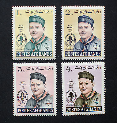 AFGHANISTAN -Boy Scouts, 1962 Mint Stamps