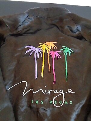 MIRAGE Hotel Casino LAS VEGAS Vintage Embroidered Jacket Size XL Free Shipping