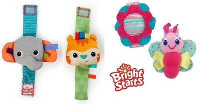 Bright Starts Rattle Me Wrist Rattles, Baby Rattle Bracelets Boys or Girls