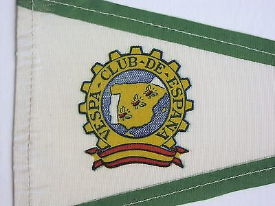 ORIGINAL 1950s/60s VESPA Club of Spain canvas aerial pennant with cog badge logo
