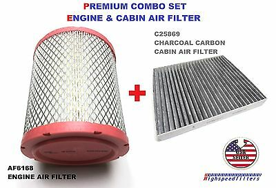 Af6168 C25869 Engine & Charcoal Cabin Air Filter Combo For Jeep Compass Patriot