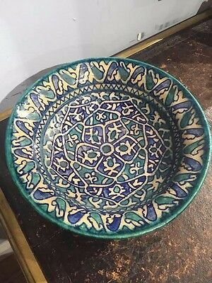 Antique Turkish Ottoman Islamic Kutahya Ceramic Dish