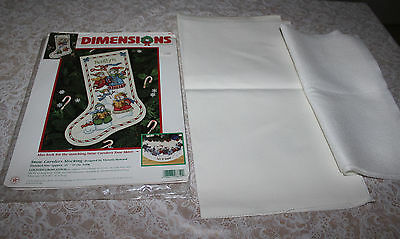 Dimensions: Snow Carolers Stocking Kit # 8619-Missing Floss