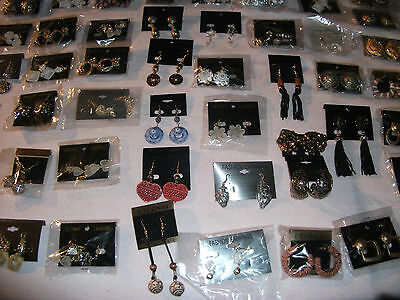 costume ethnic tribal goth jewellery job lot  50 pairs earrings only £7.75