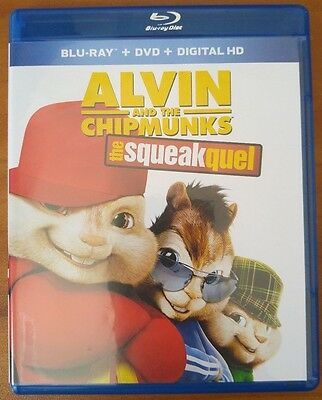 Alvin and The Chipmunks: The Squeakquel (Blu-ray and DVD, 2010) - No Digital
