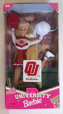 OU OKLAHOMA University Blond Barbie Special Edition Cheerleader Doll Mattel 1996