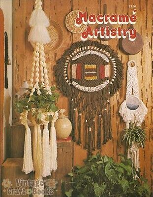 Macrame Artistry Leisure Time Vintage Instruction Book Plant Hangers 1977 NEW