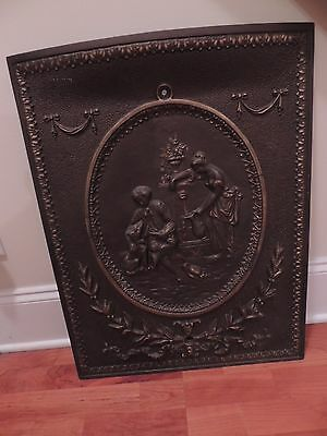 Vintage Cast Iron Fire Place Summer Cover....stunning!!!