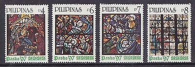 Philippines Stamps 1997 MNH Christmas Stained Glass Windows complete set