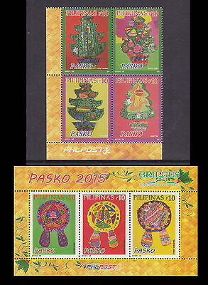 Philippines Stamps 2015 MNH Christmas Trees complete set Format I