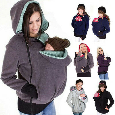 Maternity Polar warm fleece Hoodie Jumper Pullover Babywearing BABY CARRIERS