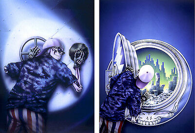 Grateful Dead The Vault, Dick's Picks gyclee signed by artist Mikio - Set of 2