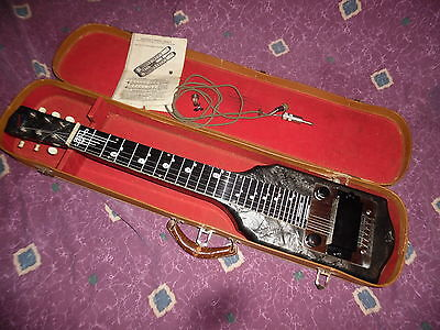 RARE 1948 National Valco Chicagoan lap steel w/orig Geib case EXC+ *Worldwide*