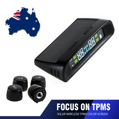 Wireless Car TPMS Tire Tyre Pressure Monitoring System LCD + 4 External Sensors