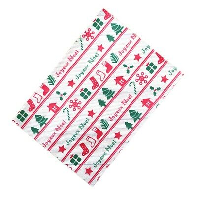 100 Pcs Nougat Wrappers Paper Christmas Candy Wrapping Twisting Wax Papers, 02