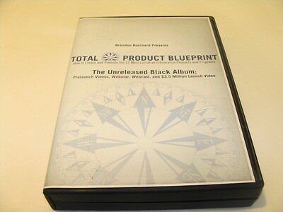 Brendon Burchard Total Product Blueprint The Unreleased Black Album 6 Disc DVD