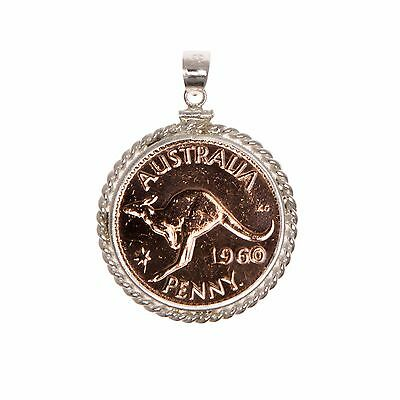 Australian Penny - Sterling Silver Twisted Wire Rope Bezel - Choose the Year