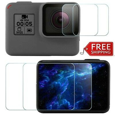 2X GOPRO Hero 5 Sport Camera Screen and Lens Protector Tempered Glass for Hero5