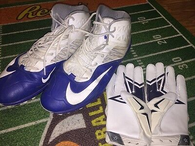 Darrion Weems Dallas Cowboys Game Used Worn Nike Cleats Jason Witten 82 Gloves