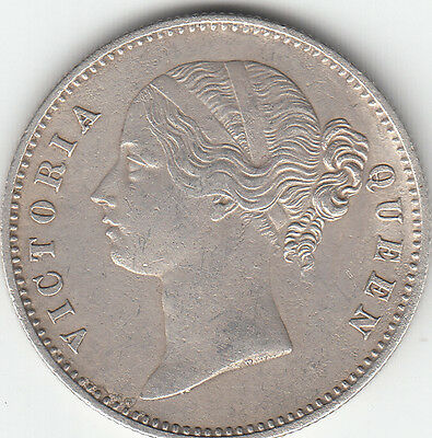 1840 British India Queen Victoria One Rupee Silver Coin Lot # 1
