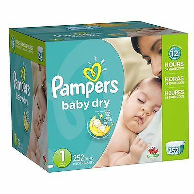 Pampers Baby Dry Diapers Economy Pack Plus Size 1 252 Count