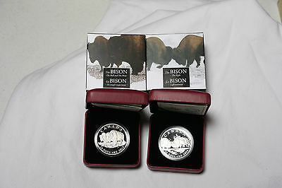 2014 $20 - The Bison - 2 COINS - The Fight Silver & Bull & it's Mate