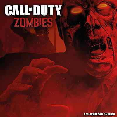 Call of Duty: Zombies Official 2017 Square Wall Calendar Shooting Video Game NEW